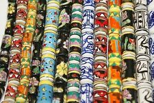 *Ceramic * Hand Crafted & Painted Tubes 14 x 8 mm, 22 x 10 mm- 25 Beads per Pack