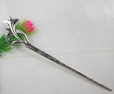 Free shipping 2/6pcs elegant Retro style orchid alloy hair sticks hairpins