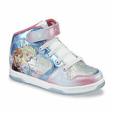Disney Frozen Elsa Anna High-Top Shoes sneakers Toddler/Youth, Blue/Pink