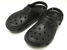 $40 Crocs Hilo Clog  Black Unisex Men Women Size 4 5 6 7 8 9 10 11 12 13 SALE
