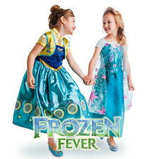 Girl Frozen Fever Dress Costume Disney Princess Anna Queen Elsa Party size 2-10