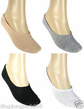 4 Pairs Womens Foot Covers Footies Dress Flat Shoes Soft Socks Liners Low Cut