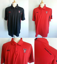 * Under Armour Mens GUNS UP Golf Polo Heat Gear Loose Fit Shirt Red Black XL XXL