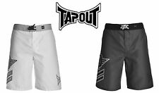 TAPOUT Mens Shorts Lightweight Sports Training MMA Pants WHITE GREY S M L XL XXL