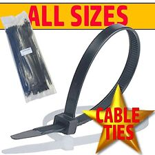 BLACK WHITE & NATURAL Cable Ties Tie Wraps Zip Ties Strong Various Sizes & Qtys