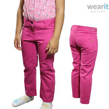 Girls Kids Colour Jeans Skinny Straight Trousers Slim Denim Pants - 1-5 Years