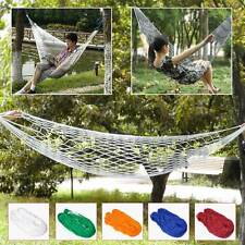 Portable Hammock Nylon Rope Net Mesh Hang Swing Sleeping Bed for Camping Travel