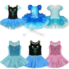 Girls Gymnastic Crystal Shoes Dress Ballet Leotard Tutu Dancewear Skirt Costume