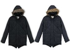 NEW BOYS BRAVE SOUL CHELTENHAM QUILTED FISHTAIL PARKA JACKET 7-13 YEARS