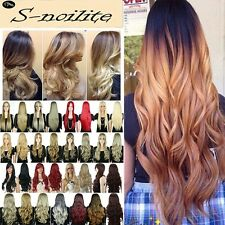 US New 27.5'' Long Straight Curly Wavy Wig Ombre Hair Full Wigs Two Tone Wigs