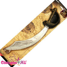 Pirate Sword and Eyepatch Halloween Smiffy License Fancy Dress Party Accessories