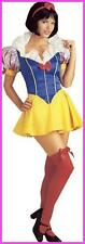 Fancy Dress Outfit Womens Halloween Snow White Fairy Tale Costume S M L