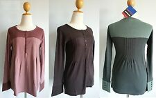 *NWT Patagonia Women Organic Cotton L/S MANDEVILLE HENLEY Stretchy Tee Top XS XL