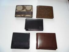 New Men's Coach Bi Fold Wallets - Five Different Styles - NWT $138 - $188