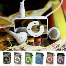 7 Colors Mini Mirror Clip USB Digital Mp3 Music Player Support 8GB SD TF Card