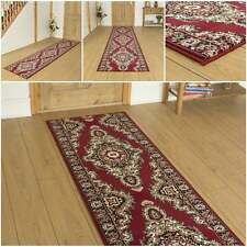 Turkesh Red - Hallway Carpet Runner Rug Mat For Hall Extra Very Long Cheap New