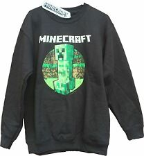 Minecraft Sweater | Mine Craft Jumper | Official | CREEPER RETRO | Youth | BLACK
