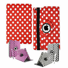 Polka Dots Leather 360° Rotating Stand Case Cover For iPad Mini & iPad Mini II