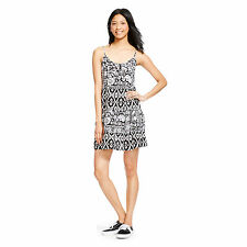NWT Junior's Mossimo Cute Stylist Black and White Printed Summer Woven Dress