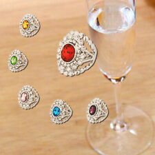 18K White Gold Plated Crystal Flower Ring Women Jewelry CZ Rhinestone Lover Gift