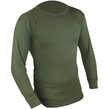 Highlander Thermal Vest Mens Long Sleeve Base Layer Top Hunting Army Shirt Olive
