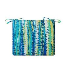 BLUE LIME ELECTRIC STRIPE Outdoor PATIO SEAT CHAIR CUSHION PAD - 5 SIZES