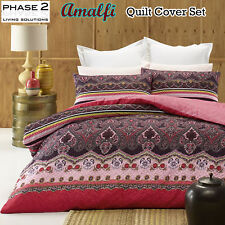 3 Pce Amalfi Damask Quilt Cover Set by Phase 2 QUEEN KING