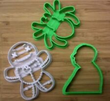 Halloween Cookie Cutters 2 - Hitchcock, Spider, Voodoo Doll - Choice of Sizes