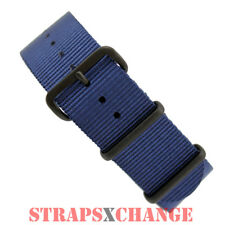 PREMIUM PVD NATO® G10 NAVY BLUE Military Diver's Watch Strap Band 4 Ring NYLON .