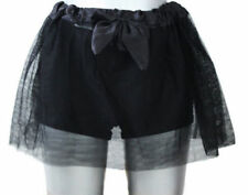 Kid's Halloween Black 2 Layer Tutu Skirt With Bow 5-12 Yrs Fancy Dress Costume