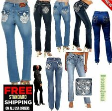 J9 Womens Stretch BLUE Denim JEANS Destroy Skinny Ripped Distressed Pants JS1627
