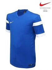 NIKE Dri Fit Soccer Jersey Trophy S/S AUTHENTIC Football Sports Golf Blue Shirt
