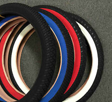 "pair of 20""x2.25 BMX Bike Tires Free style pick up color red white blue black"