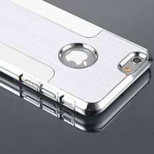 Luxury Brushed Aluminum Chrome Metal Hard Case Cover for iPhone 6s / 6s Plus