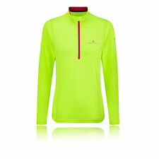 Ronhill Thermal 200 Womens Green Half Zip Long Sleeve Sports Running Top