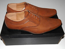 Mens Brown Stylish Smart Formal Lace Up Office Dress Shoes Sizes UK 7-11