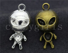 3/10/50pcs Tibetan Silver Beautiful Aliens Jewelry Charms Pendant DIY 31x15mm