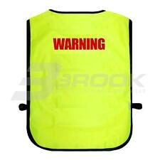 PRINTED WARNING HIGH VISIBILITY TABARD HI VIS VIZ SAFETY WAISTCOAT