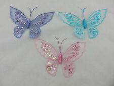 Glitter Sheer Butterfly Hanging Decorations Room Party Girls