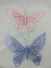 Glitter Sheer Large Butterfly Hanging Decorations Room Party Girls