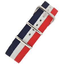 National Nato Nylon Military Watch Strap in BLUE/WHITE/RED