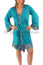 Pyjamas Ladies Summer PJs Light Dressing Gown Robe Green Sz 8 10 12 14 16