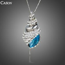 Austrian Crystal Conch Design Pendant Necklace Fashion 18k Gold Plated Jewelry