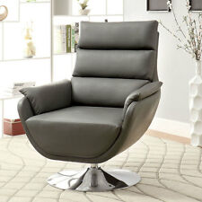 Kulm Contemporary Style Leatherette Finish Accent Chair