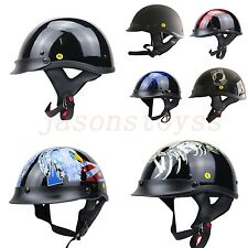 Vcoros Open Face Dot Approved Vintage Motorcycle Scooter Helmet ABS New in Stock