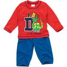 Lullaby Baby Boys D Is For Dinosaur Long Sleeve Cotton Pyjamas Blue Red 6-23mths