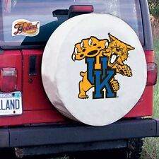 Kentucky Tire Cover with Wildcats Logo on White Vinyl