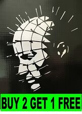 HELLRAISER PINHEAD HORROR HALLOWEEN DECAL STICKER VINYL WALL LAPTOP CAR 5.5""