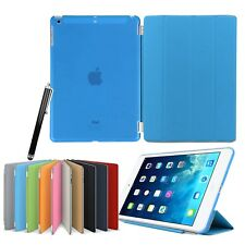 Ultra Thin Smart Flip Magnetic Stand Transparent Back Case For Apple iPad Air