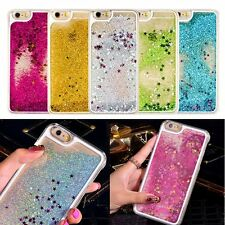 Clear Star Liquid Glitter Hard Back Case Cover Skin for iPhone 6 6s Plus 4 5s 5c